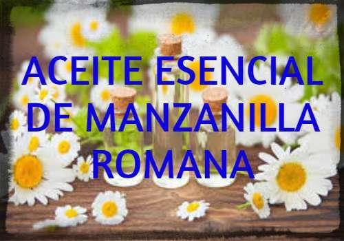 aceite esencial de manzanilla romana