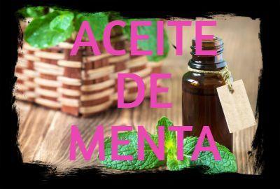 Aceite Esencial de MENTA: Propiedades, usos y beneficios