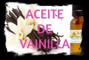 aceite esencial de vainilla