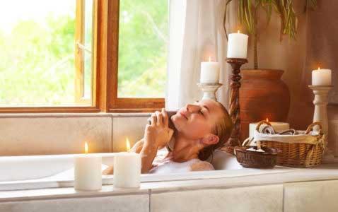 baño con aceites esenciales